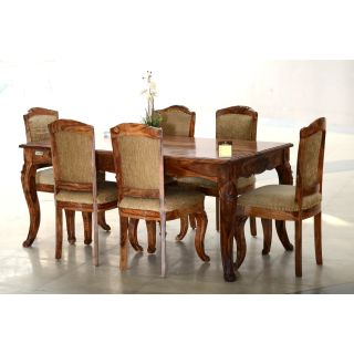 DINING SET CARVING 6 SEATER