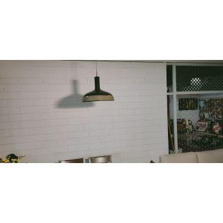 Wooden Edge Black Pendant Light