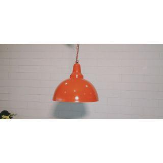 Temple Dome Orange Pendant Light