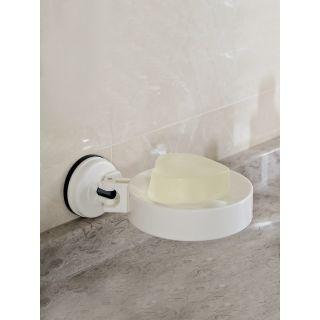 D3 DIANA ROUND SOAP HOLDER - WHITE