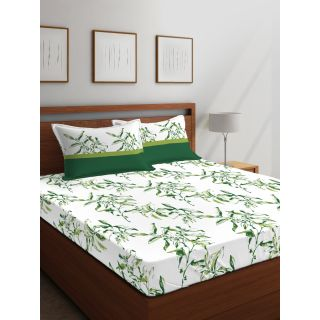 Layers - 100% Cotton - 144 Thread Count - Queen - Firenze Beautiful Colour Premium- Design Bedsheet Set -with 2 Pillow Cover Percale - Breathable and Skin FriendlyFTR00977