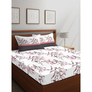 Layers - 100% Cotton - 144 Thread Count - Queen - Firenze Beautiful Colour Premium- Design Bedsheet Set -with 2 Pillow Cover Percale - Breathable and Skin FriendlyFTR00978