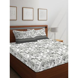 Layers - 100% Cotton - 144 Thread Count - Queen - Firenze Beautiful Colour Premium- Design Bedsheet Set -with 2 Pillow Cover Percale - Breathable and Skin FriendlyFTR00986