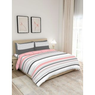 Layers - 100% Cotton - 140 Thread Count - Queen Lombardy Beautiful Colour and Soft Touch - Design BIAB -With 2 Pillow Covers Percale - Breathable and Skin FriendlyFTR01127