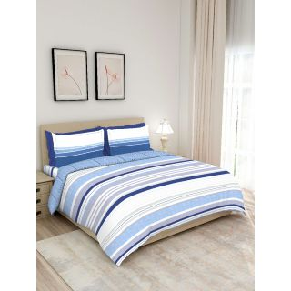 Layers - 100% Cotton - 140 Thread Count - Queen Lombardy Beautiful Colour and Soft Touch - Design BIAB -With 2 Pillow Covers Percale - Breathable and Skin FriendlyFTR01128