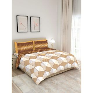 Layers - 100% Cotton - 140 Thread Count - Queen Lombardy Beautiful Colour and Soft Touch - Design BIAB -With 2 Pillow Covers Percale - Breathable and Skin FriendlyFTR01129