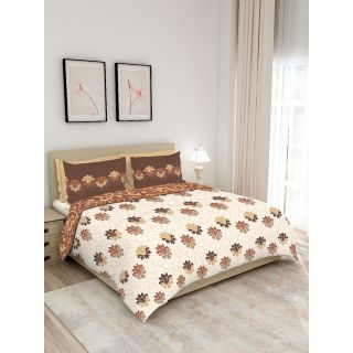 Layers - 100% Cotton - 140 Thread Count - Queen Lombardy Beautiful Colour and Soft Touch - Design BIAB -With 2 Pillow Covers Percale - Breathable and Skin FriendlyFTR01132