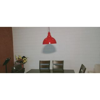 Temple Dome Red Pendant Light