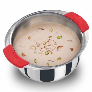 Hawkins Tri-Ply 2.5 mm Stainless Steel Induction Compatible Metro Patila, 2.5 Litre