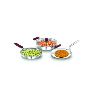Hawkins Triply Stainless Steel Cookware 3pc Set