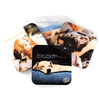 Life is Good with Dogs - Coasters (Set of 4)