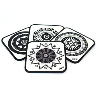 Symbols of Luck - Coasters (Set of 4)