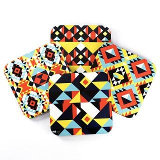 Patterns Geom - Coasters (Set of 4)