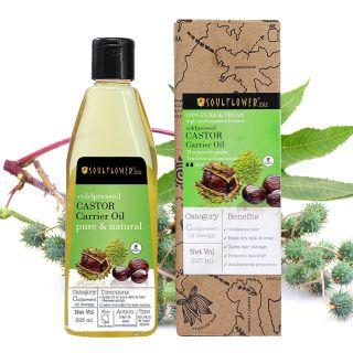 Soulflower Coldpressed Castor Oil For Hair & Skin, 225ml