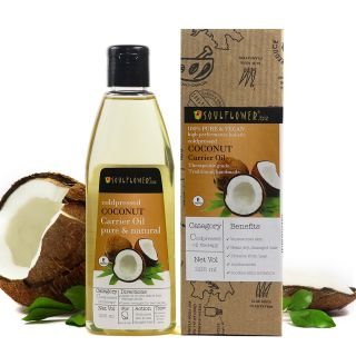 Soulflower Coldpressed Coconut Carrier Oil, 225ml