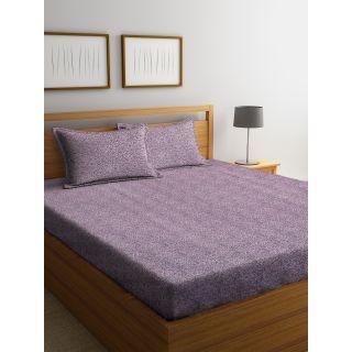 Trident Bliss  144 TC 228 X 254 2 PL Bedsheets Mauve (8904266251614)