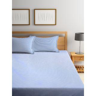 Trident Bliss  144 TC 228 X 254 2 PL Bedsheets Modern Blue (8904266251645)