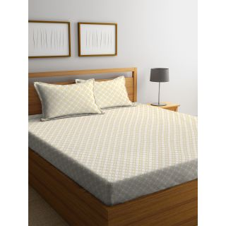 Trident Bliss  144 TC 228 X 254 2 PL Bedsheets Ethnic Yellow (8904266251751)