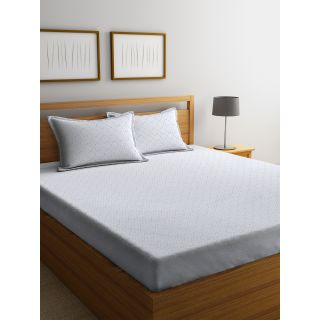 Trident Bliss  144 TC 228 X 254 2 PL Bedsheets Sassy Silver (8904266251812)