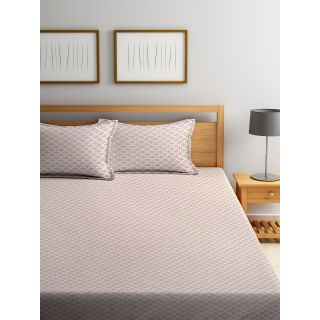 Trident Bliss  144 TC 228 X 254 2 PL Bedsheets Classic Brown (8904266251911)