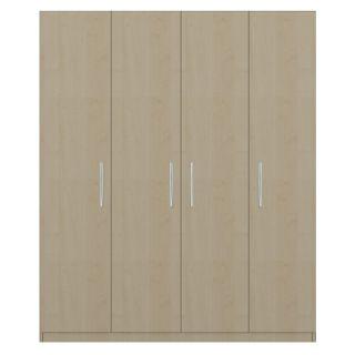 4-door wardrobe in Maldau Acacia Light