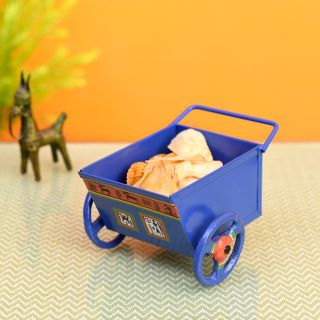 Funky Snacks Serving Food Cart in Blue Color (6x4.4x4)