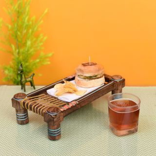 Exotic Wooden Charpai Stand (12.4x7x3.3)