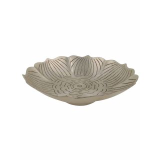 Lotus Candle Base Ant Silver
