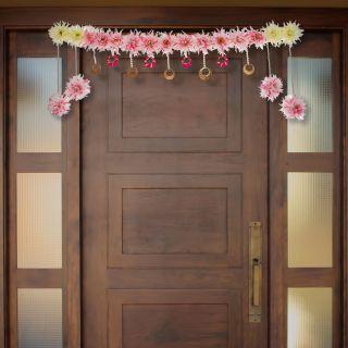 eCraftIndia Premium Decorative Floral Bandarwal/Toran Door Hanging (BAND200)