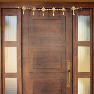 eCraftIndia Decorative Yellow Floral Bandarwal/Toran Door Hanging (BAND201)