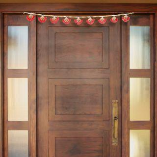 eCraftIndia Decorative Lord Ganesha Colorful Bandarwal/Toran Door Hanging (BAND202)