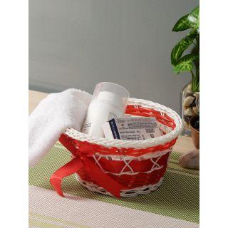 Aapno Rajasthan Red Plastic Multipurpose Basket