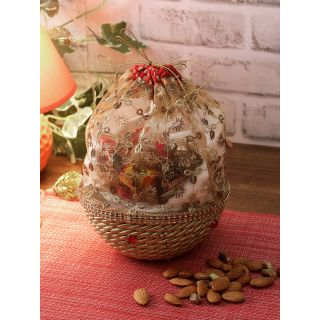 Aapno Rajasthan Gold  Red Self-Design Multi-Purpose Basket