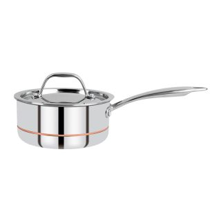 Bergner Argent 5CX 5 Ply Stainless Steel Saucepan with Stainless Steel Lid, 16 cm (1.6 L), Sliver