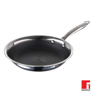 BERGNER Hitech Prism Non-Stick Stainless Steel Frypan, 16 cm, Induction Base, Silver