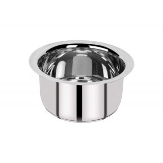 Bergner Essential Stainless Steel Tope, 23.5 cm, 5500 ml, Induction Base, Silver