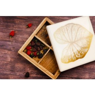 Wooden Box Gold Leaf
