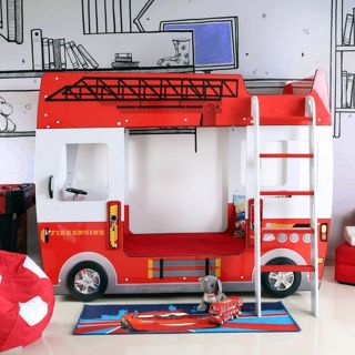 Fire Fighter Bunk Bed For Kids