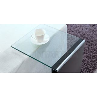 """""""C"""" Glossy Grey End Table"""