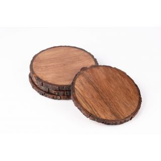 Coasters Wooden Bark