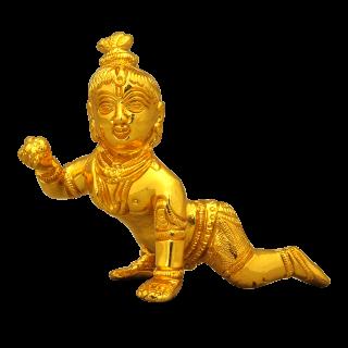 Crawling Krishna - Micro Gold Coating