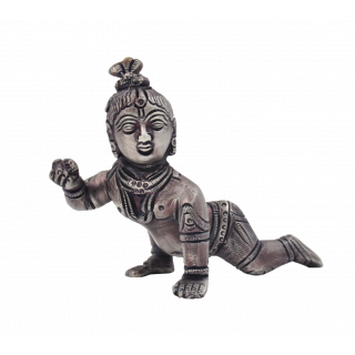 Crawling Krishna - Silver Antique