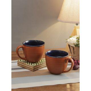 Maroon Ceramic Coffee Mug Set of Two Pcs-2