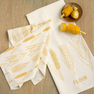 Flour Dish Towel Set of Two (Amber)