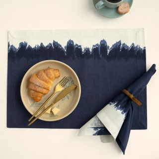 Elevating Blue Placemat Set of Six