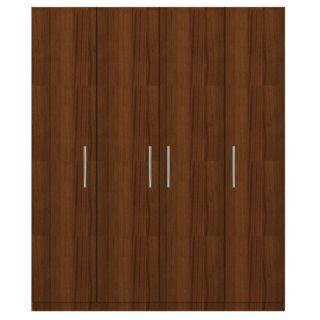 """Troy B 4 door wardrobe in Classic Plank Wallnut 72"""" w x 84"""" h"""