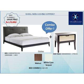 Earl Bed + Sidetable