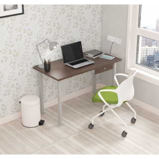 SOS LiteOffice Eco Desk with Drawer Home and Office Table  - WFHECPTMLDRC060L