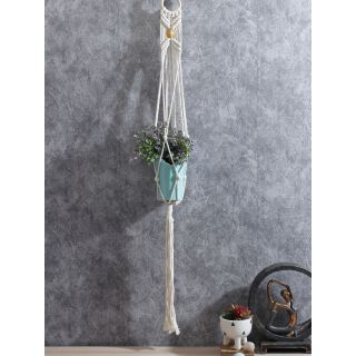 Hand Knotted Cotton Hanging for 01 Planter FAB20383E