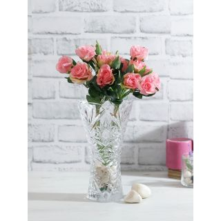 Bunch of 2 Pink Artificial Rose Sticks(FL20387PI)